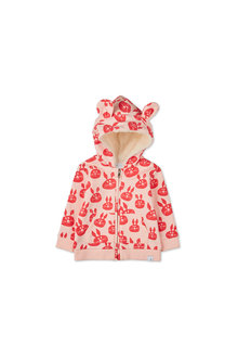 Pumpkin Patch Bunny Ear Zip Hoodie