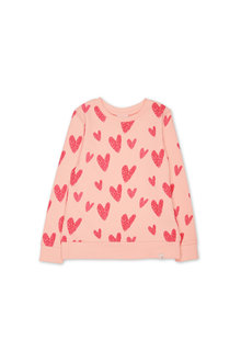 Pumpkin Patch Hearts Crew Sweat
