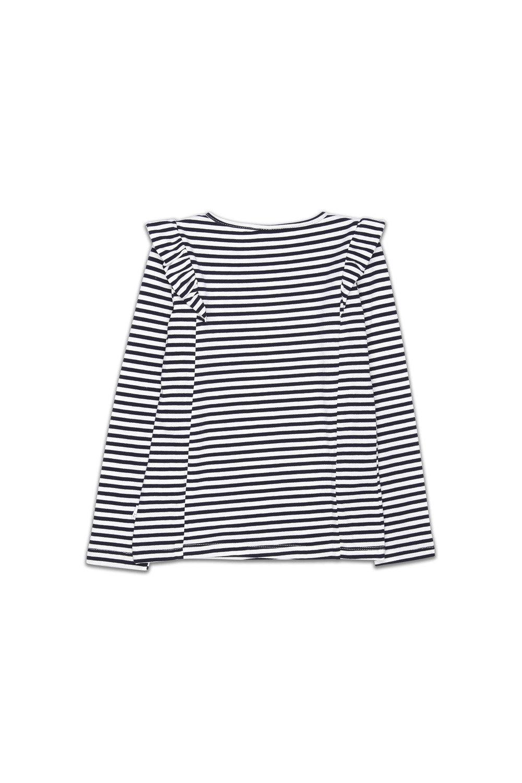 23d997f2c4a866 Pumpkin Patch Frill Stripe Long Sleeve Top Online