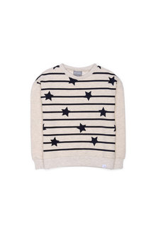 Pumpkin Patch Stars And Stripes Long Sleeve Sweater