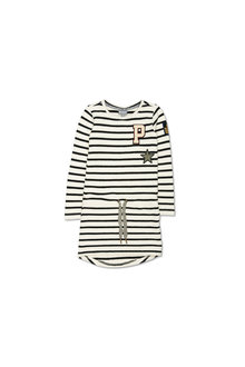 Pumpkin Patch Logo Stripe Club Dress