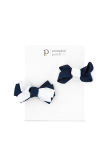 Pumpkin Patch Bow Clips 2-Pack