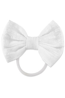 Pumpkin Patch Fabric Bow Hair Tie
