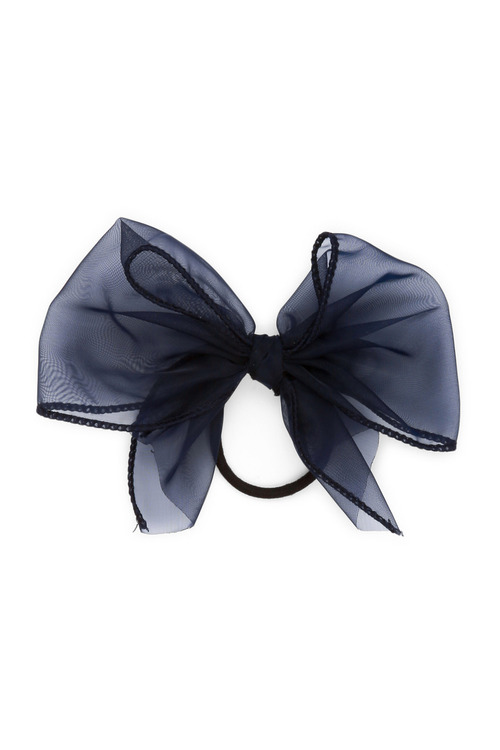 Pumpkin Patch Chiffon Look Oversized Bow Hair Elastic