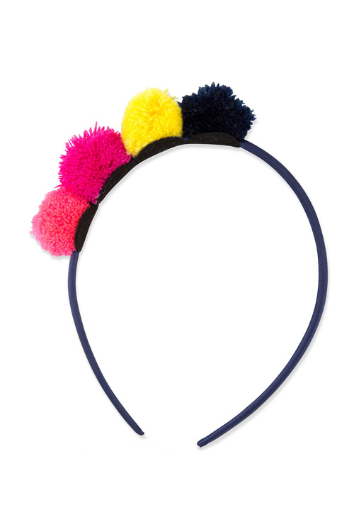 Pumpkin Patch Tulle Pom Pom Headband