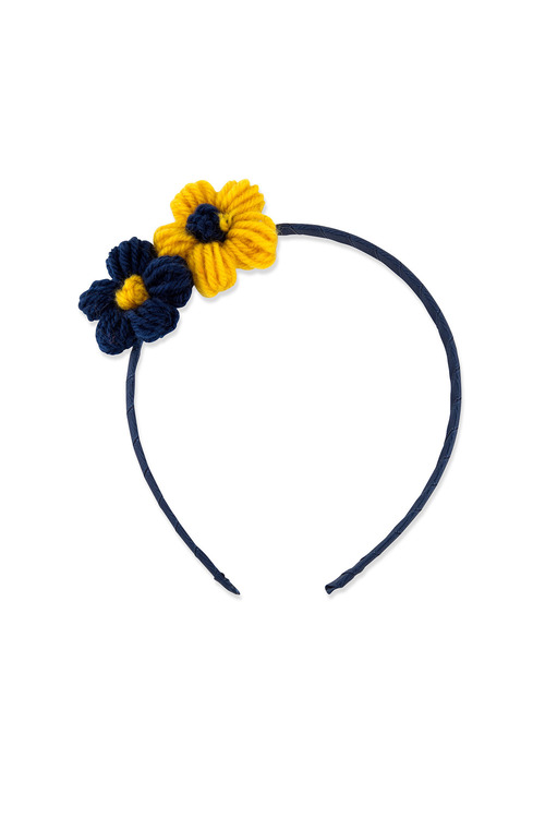 Pumpkin Patch Yarn Wrapped Flower Headband