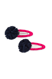 Pumpkin Patch Tulle Pom Pom Snap Clips - 216551