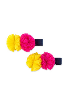 Pumpkin Patch Tulle Pom Pom Duck Clips