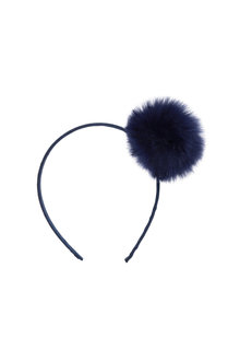 Pumpkin Patch Faux Fur Pom Pom Headband - 216554