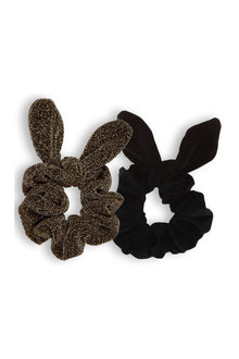 Pumpkin Patch Lurex Bunny Ear Scrunchies 2-Pack