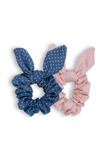 Pumpkin Patch Bunny Ear Scrunchies 2-Pack