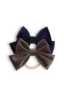 Pumpkin Patch Velvet Bow Lurex Hair Elastic 2-Pack