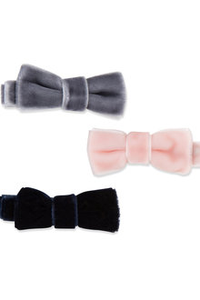 Pumpkin Patch Velvet Bow Duck Clips - 216561