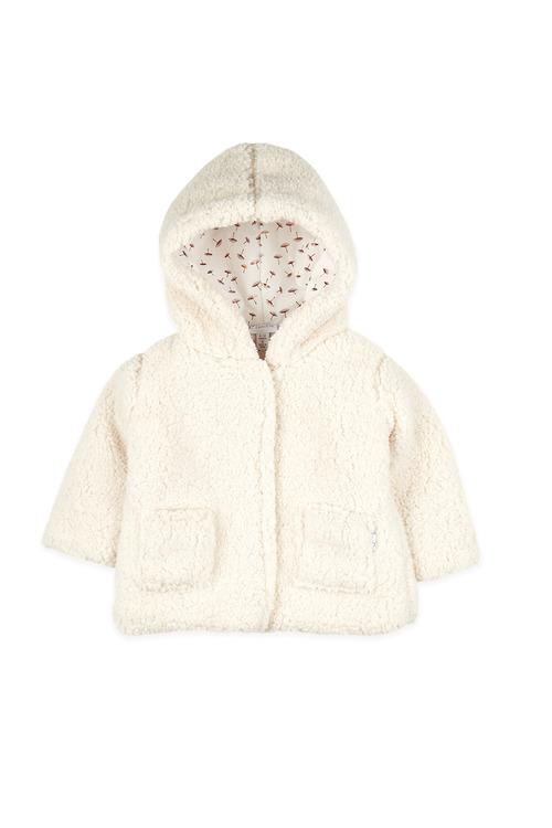 Pumpkin Patch Faux Shearling Hooded Jacket