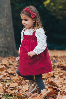 Pumpkin Patch Cord Pinafore