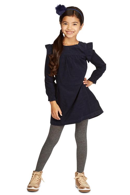 Pumpkin Patch Cord Ruffle Dress