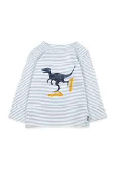 Pumpkin Patch Skating Dino Long Sleeve Tee