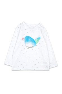 Pumpkin Patch Birdie Long Sleeve Tee