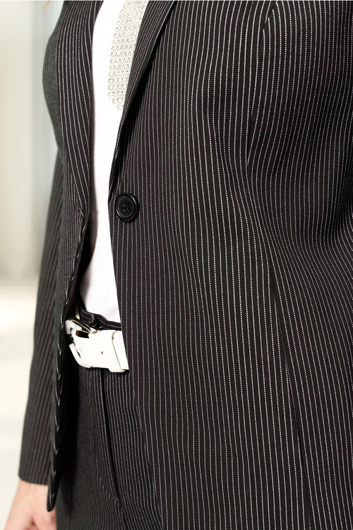 Capture European Classic Pinstripe Jacket