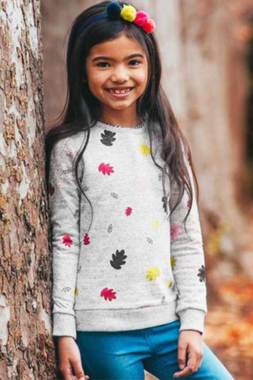 Pumpkin Patch Glitter Leaf Sweater