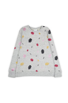 Pumpkin Patch Glitter Leaf Sweater