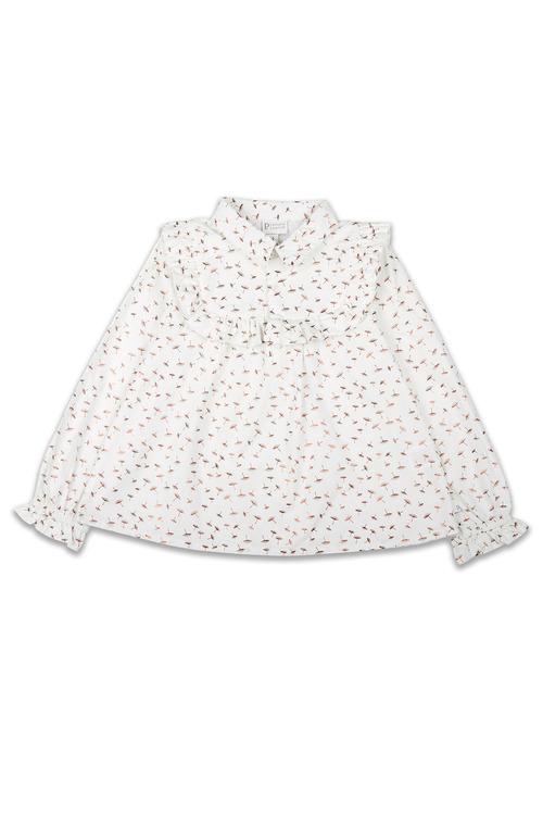 Pumpkin Patch Dandelion Long Sleeve Frill Shirt