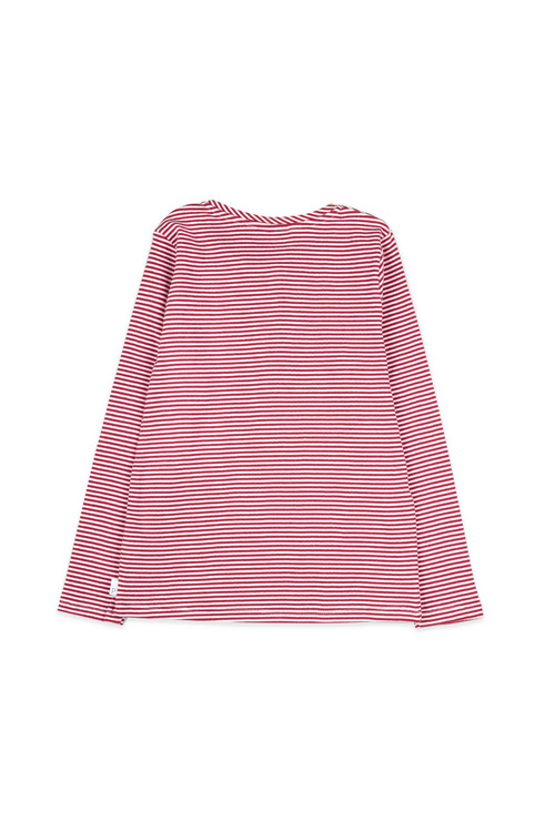 Pumpkin Patch Stripe Henley Long Sleeve Tee