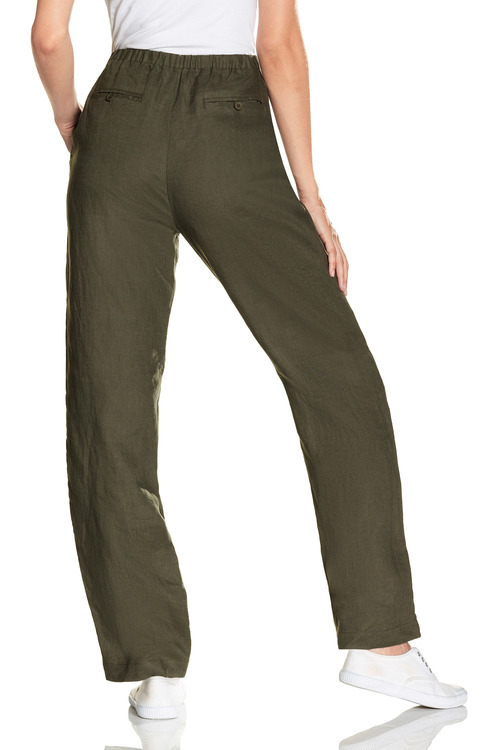 Capture Linen Elasticated Back Waist Pants