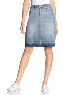 Capture Release Hem Denim Skirt