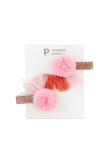Pumpkin Patch Tassel Clips 2-Pack