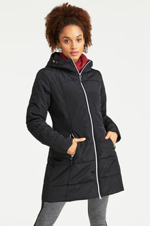 Isobar Outdoors Longline Quilted Puffer Jacket - 216701