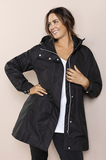 Plus Size - Isobar Plus Longline Lightweight Waterproof Jacket
