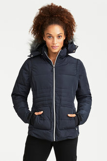 Isobar Outdoors Convertible Quilted Jacket - 216706