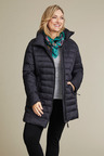 Plus Size - Isobar Plus Longline Quilted Puffer Jacket