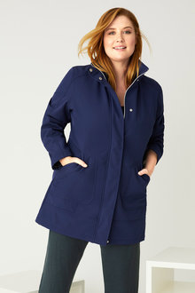 Plus Size - Isobar Plus Longline Softshell Jacket