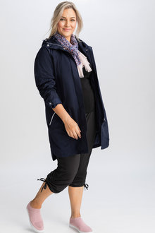 Plus Size - Isobar Plus Longline Waterproof Jacket - 216722