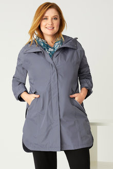 Plus Size - Isobar Plus Longline Waterproof Jacket