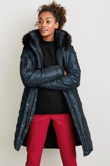 Next Long Belted Padded Coat -Tall