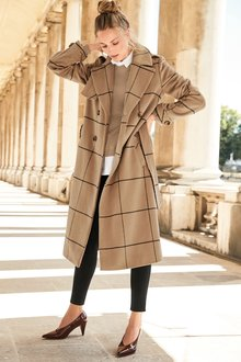 Next Windowpane Check Coat -Tall