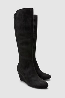 Next Forever Comfort Knee High Wedge Boots