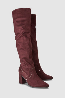 Next Stud Detail Knee High Boots