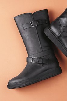 Next Crepe Sole Knee High Boots