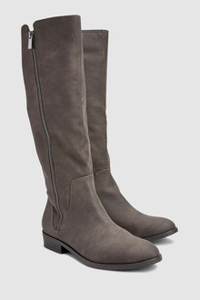 Next Flat Knee High Boots