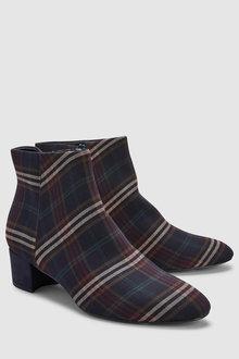 Next Low Block Heel Ankle Boots