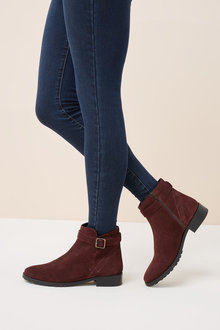 Next Buckle Ankle Boots