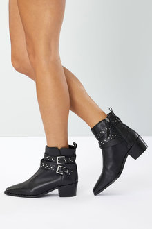 Next Double Buckle Ankle Boots