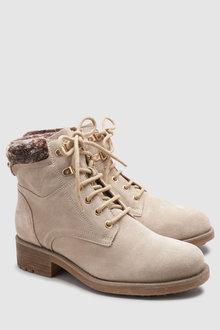 Next Signature Comfort Suede Hiker Boots