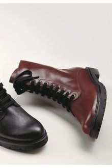Next Leather Lace Up Boots