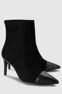 Next Heritage Suede Heeled Boots