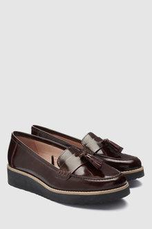 Next Leather EVA Tassel Loafers